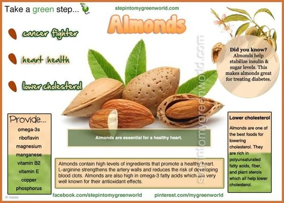 Nutrients in Almonds - Almonds are a superb source of polyunsaturated and monounsaturated oils: