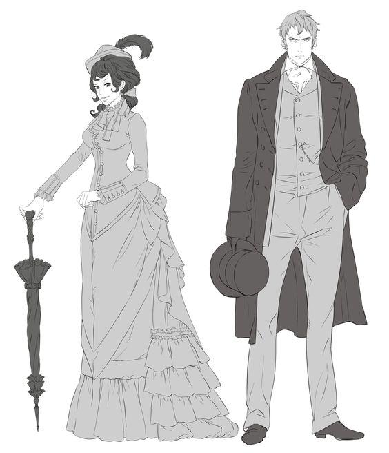 Alexia Tarabotti & Lord Conall Maccon Manga Sketches: