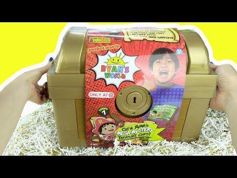 Ryan S World Cap N Ryan S Mega Mystery Treasure Chest Series 1 Putty Dolls Pirates Gold Toys Youtube Ryan Toys Disney Frozen Crafts Frozen Crafts
