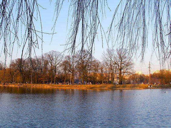 На другом берегу пикник выходного дня на озере Летнее в районе Понарт. Фото: Evgenia Shveda