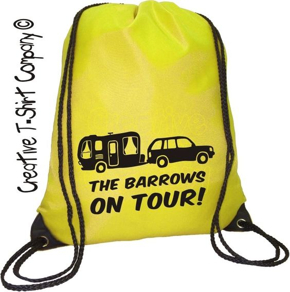 Personalised 4x4 on tour ace caravan #drawstring bag, #great fun #camping essenti,  View more on the LINK: 	http://www.zeppy.io/product/gb/2/291971904600/