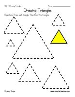 Worksheet Triangles Worksheet colors the ojays and shape on pinterest drawing triangles worksheet trace each triangle then color information draw