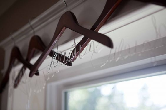CUSTOM Wooden Hangers - make beautiful hangers for all the special people in your life (especially great for bridesmaids)