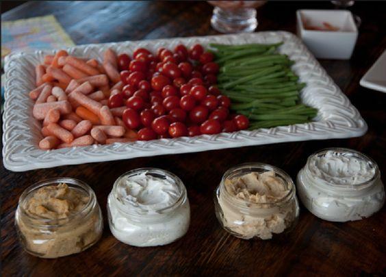 baby shower vegetable tray ideas veggie platter with mason jar dips