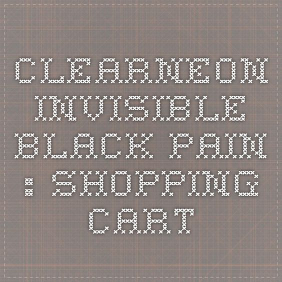 Clearneon Invisible Black Pain : Shopping Cart