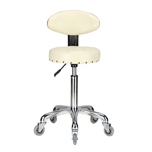 Karrie Rolling Stool Salon Chair With Smooth Rolling Dual Wheels