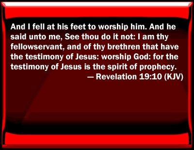 Rev. 19:10