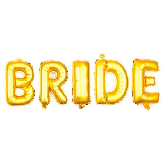 Bride Letter Balloons  Inch  Gold  Letters Balloons And