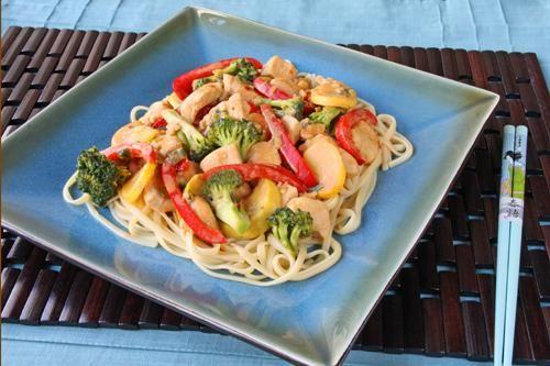 Chicken Recipes Chicken Thai StirFry with Peanut Sauce recipe