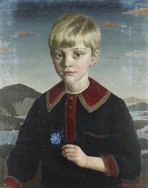 Portrait of John Sealy, Aged Five, Oil on board, 1916 by Gerald Leslie Brockhurst, (1890-1978):