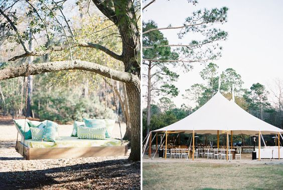 I wish I had a tree to hand the swing from.  Sail Cloth Tents are the best!