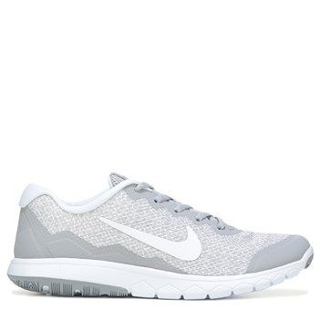 Nike Women\u0026#39;s Flex Experience RN 4 Prem Running Shoes (Grey/ White Print)