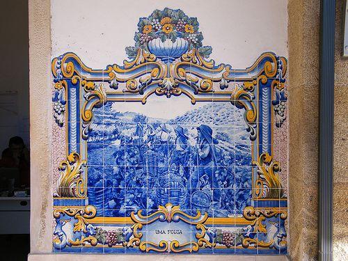 Painel de Azulejos: Uma Pousa - Pinhão | Flickr: partage de photos!