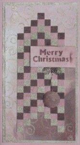 Weihnachtskarte in der Barell-TEchnik,in den Trendfarben Altrosa, Rosenholz und Silbergold von Viva Decor - gestaltet von Daniela Rogall