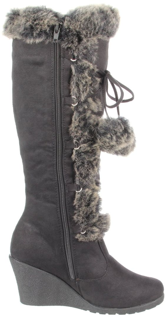 I brought 2 pairs of these really really comfortable boots the blk for me and the brown for my daughter. Not really my style but for the price it was worth it. They came in real handy last week when it was freezing!