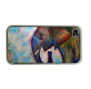 Elephant iPhone Case 4\ 4S iPhone Cover by HeavenlyCreaturesArt