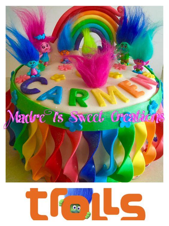 Trolls Cake  #trollsmovie #trollscake #madretsweets: