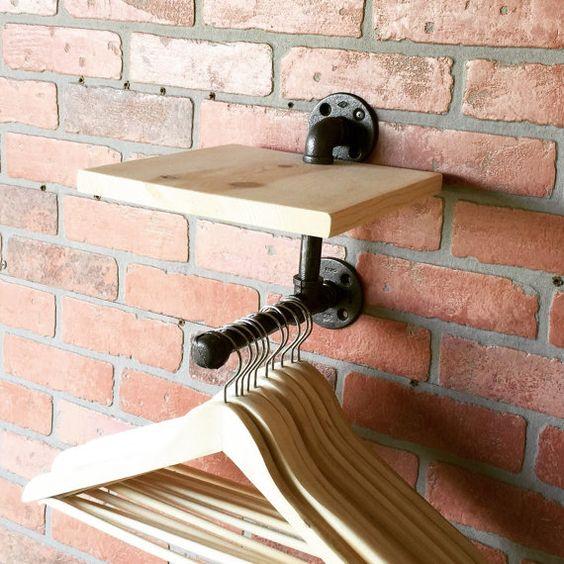 Industrial Clothing / Hat Rack  Retail Display by CoronaConceptsCo