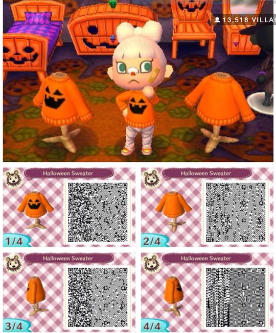 An awesome orange pumpkin sweater perfect for Halloween~ (remember I did not make this design)