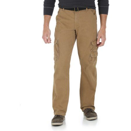 Wrangler Jeans Co. Men's Cargo Twill Pants, Size: 38 x 32, Brown ...