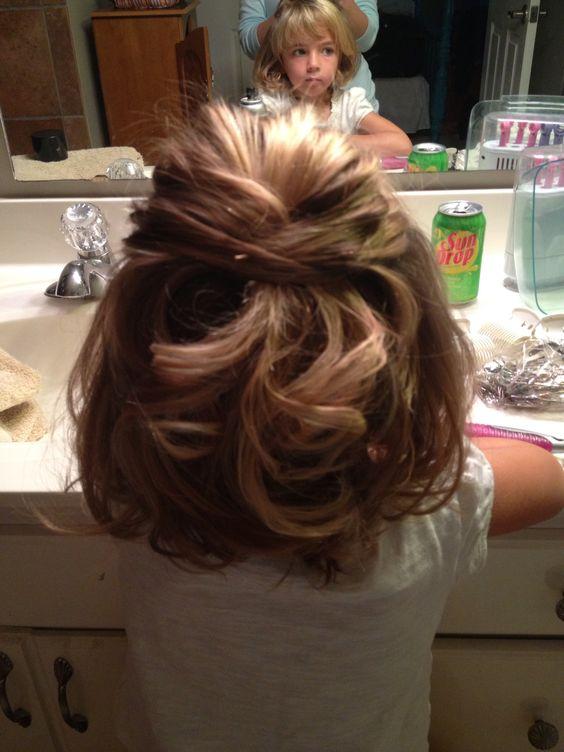 Little Girls Wedding Hair My Niece Annabel Loved Her