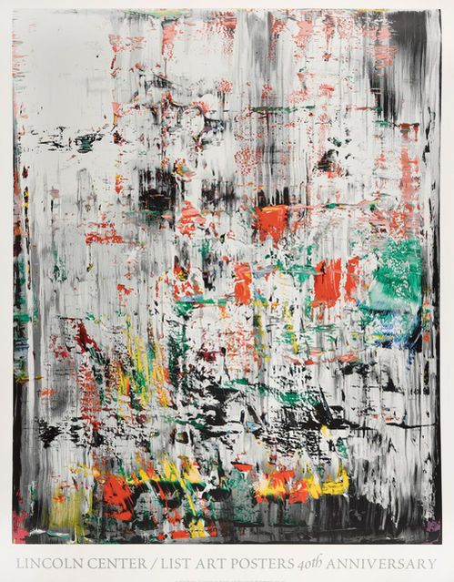Available For Sale From Raw Editions The Edit Iv Gerhard Richter Lincoln Center List Art Posters 40th Annivers Abstract Artists Abstract Painting Abstract