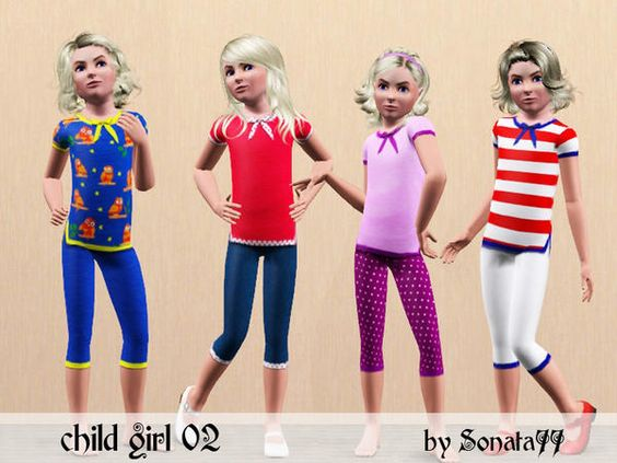 Little Girl's Casuals by Sonata77  http://www.thesimsresource.com/downloads/1169336