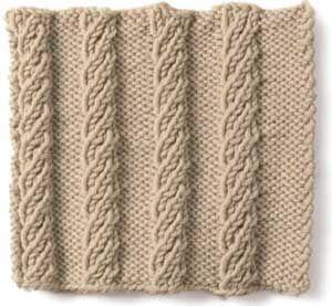 Free Knitting Stitch Gallery : Stitch Gallery - Wide Mock Rib Yarn Free Knitting Patterns Crochet Patt...