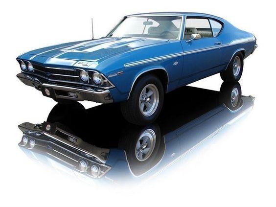 1969 Chevrolet Chevelle coupe Yenko SYC COPO (Central Office Production Order) 9562, L72 option iron block 427 cid 425 horsepower big block in LeMans Blue