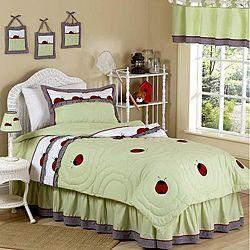 JoJo Designs Green 3-piece Full/ Queen-size Comforter Set: Ladybugs
