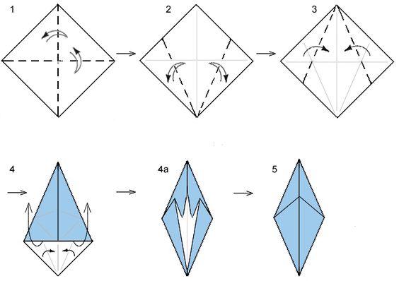 Origami fish base.