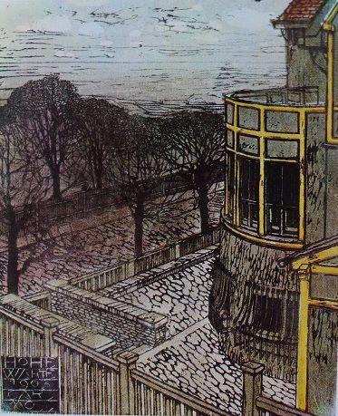 Hohe, Warte, Vienna, acquerello di Carl Moll
