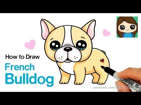 How To Draw A French Bulldog Easy Cartoon Puppy Youtube Cute Dog Cartoon Puppy Cartoon Cute Animal Drawings