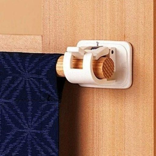 Self Adhesive Hooks Rod Bracket 2pcs In 2020 Curtain Rods