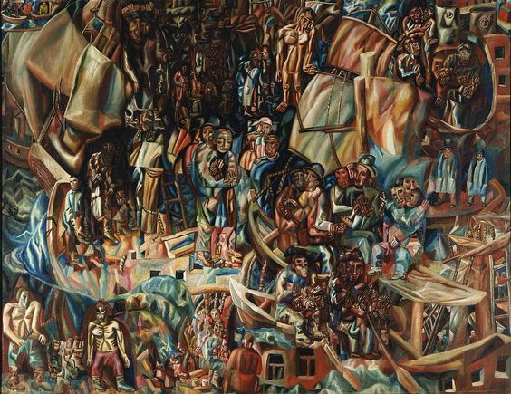 1280px-Filonov_ships.jpg (1280×988)Филонов П.Н. Композиция. Корабли, 1913-1915. Масло на холсте. Государственная Третьяковская галерея. 117 × 154 см.