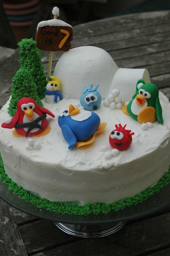 Torta de cumple de Club Penguin, hermosaaaa