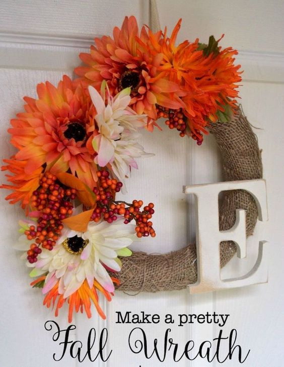 DIY Inspirations Fall Wreaths Ideas Part 51
