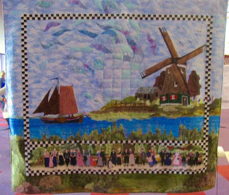 Dutch people, by Sylvia Kaptein. Fusion of Quilt and Cross stitch. Stunning!!