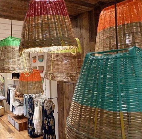 dye dipped basket pendant lighting