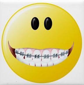 Braceface Brad Emoji - Smiley Emoji with Braces