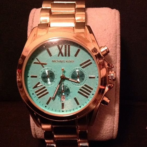 Gold metal watch NWOT no box turquoise dial Turquoise dial Michael Kors Accessories Watches