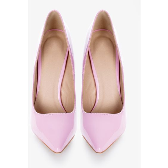 Szpilki Darling Pastel Pink High Heels w DeeZee.pl ❤ liked on