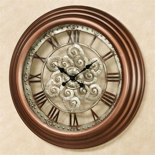 Coraline Wall Clock Bronze Clock Wall Clock Metal Wall Clock
