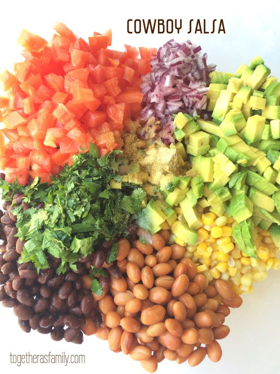 Cowboy Salsa- Simple, fresh, full of flavor, and delicious! www.togetherasfamily.com