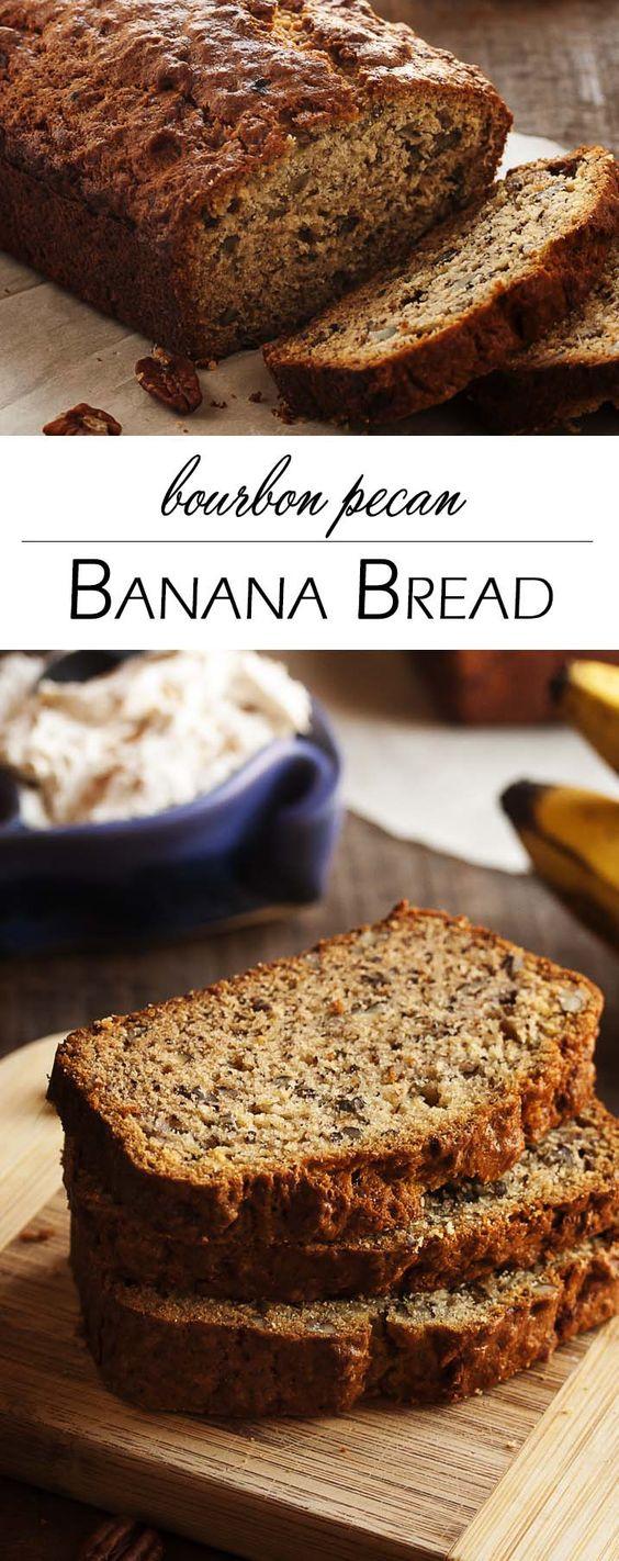 Bourbon Pecan Banana Bread - This bourbon pecan banana bread is a ...