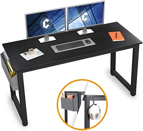 Best Seller Cubiker Computer Desk 55 Modern Sturdy Office Desk Large Writing Study Table Home Office Extra Strong Legs Black Online Prettytrendyfashion In 2020 Modern Desk Office Desk Desk