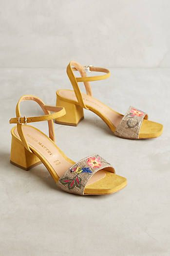 Paolo Mattei Embroidered Heels