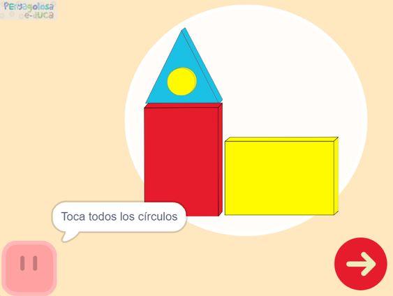 Joc online – Figures geomètriques en diferents posicions