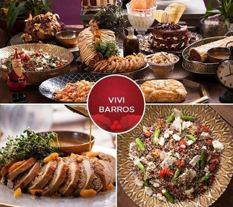 """O @buffet_vivibarros preparou uma ceia de #Natal deliciosa, que pode ser encomandada. No menu: tarte tatin de tomates e queijo de cabra servida com mini verdes ao molho balsâmico, peru ao molho roti com damascos e sua compota e outras opcões. Para mais detalhes e o contato, procure por """"Buffet Natal"""" na busca do site: www.casaedecor.cz"""