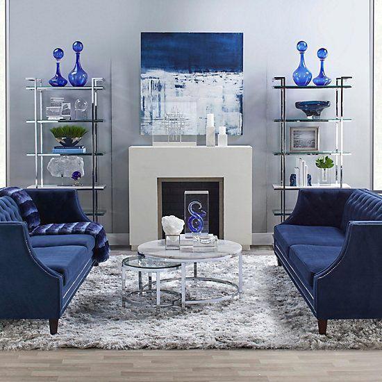 Livingrooms In 2020 Blue Living Room Decor Glam Living Room Living Room Decor Apartment